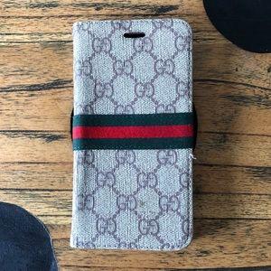 Gucci IPhone 8 Plus Wallet Phone Case